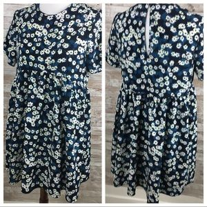 ASOS Oh My Love Blue Floral Dress Size Medium
